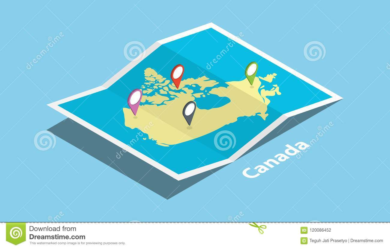 Canada Location Map on