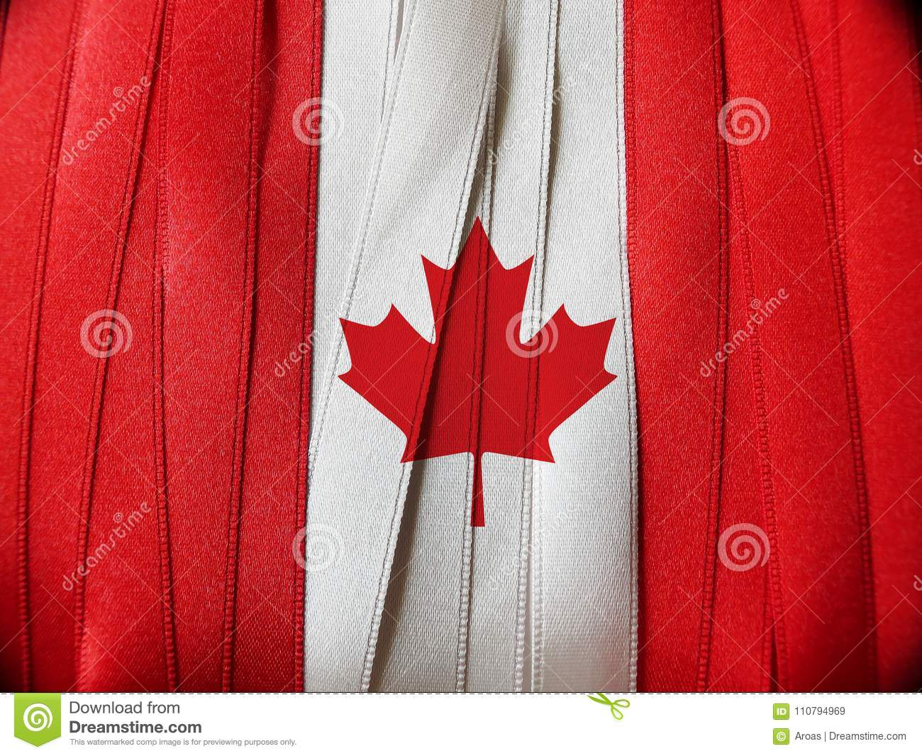 canada flag or banner stock image image of invitation 110794969
