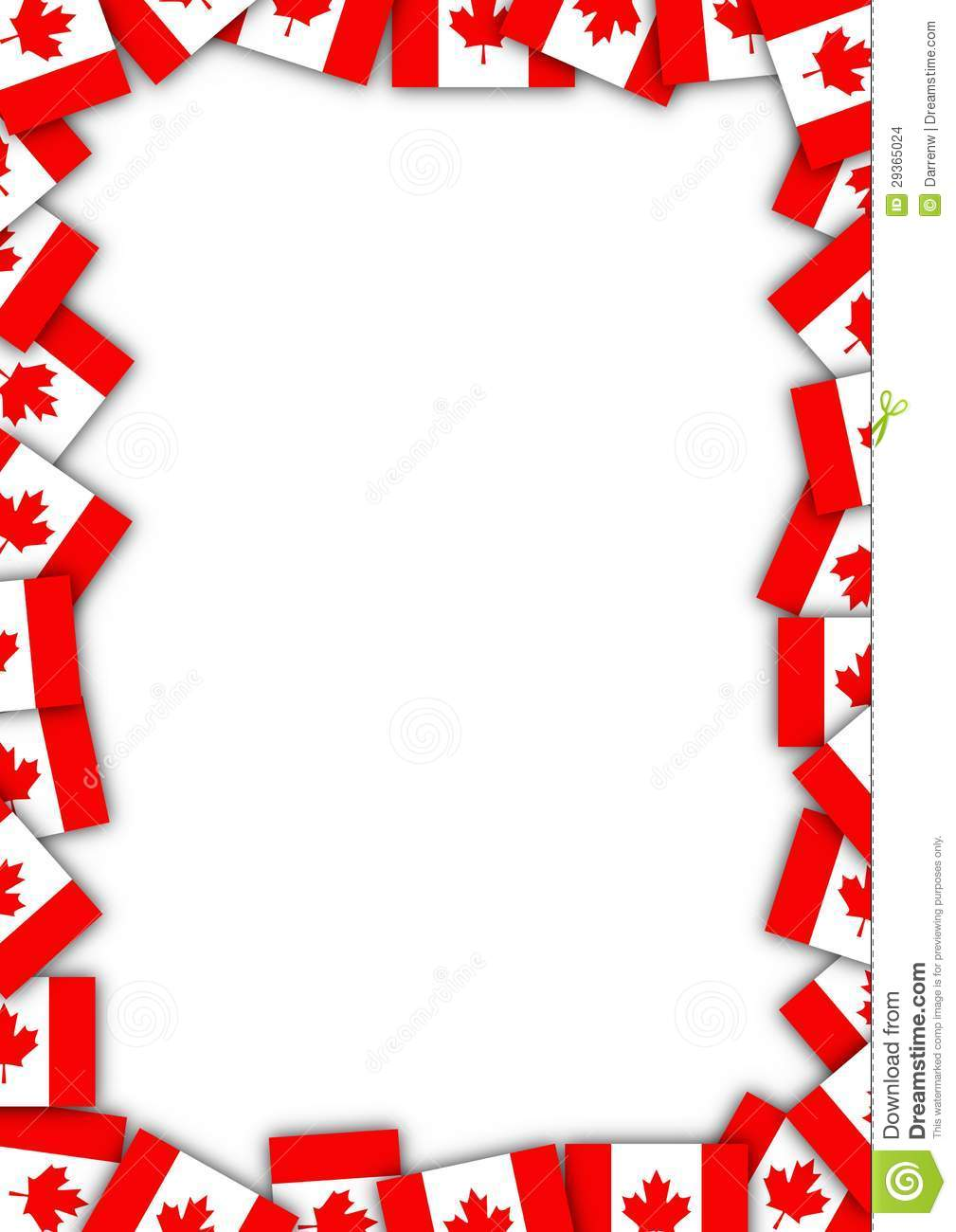 Canada Flag Border Stock Illustration Image Of