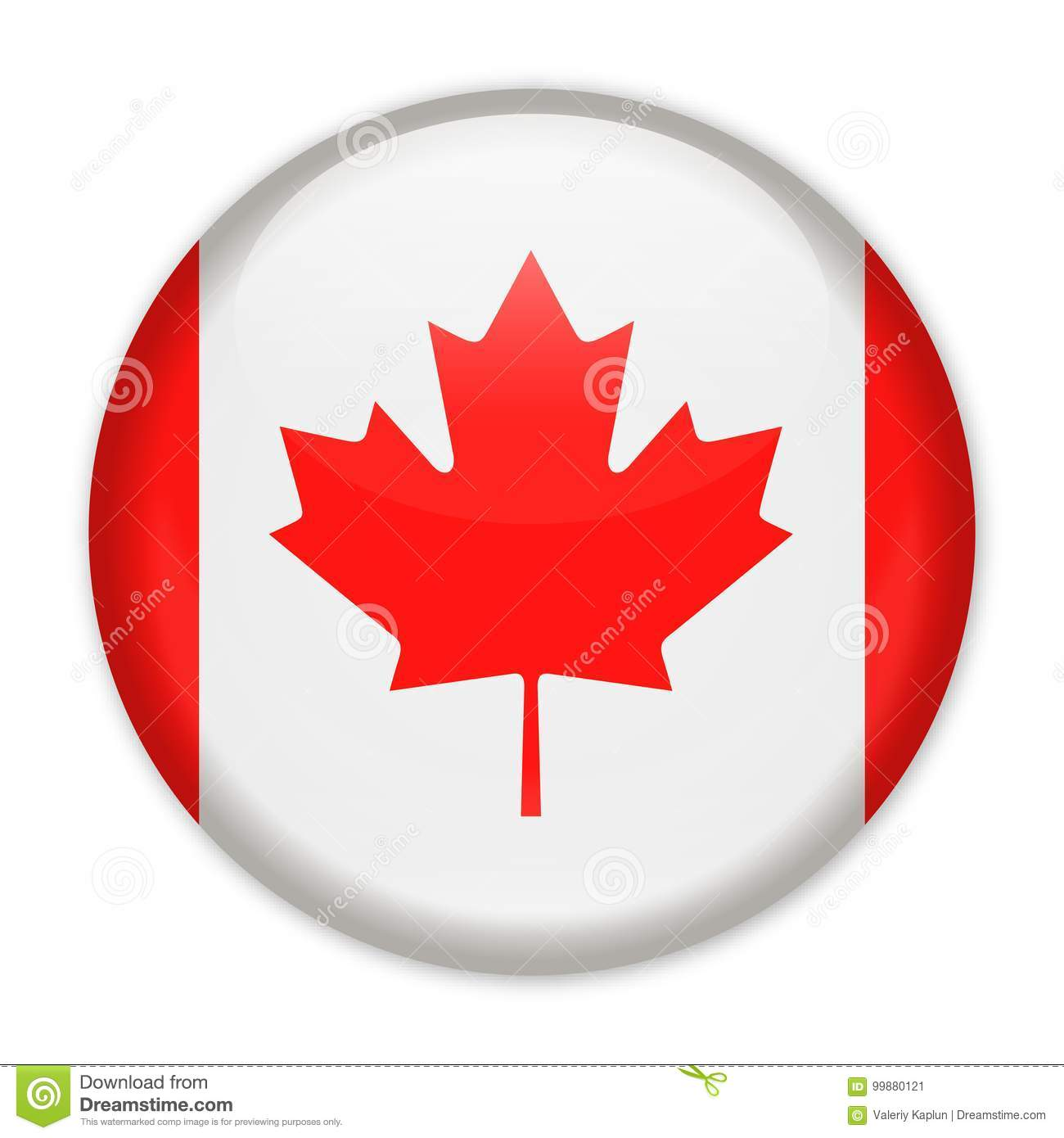 canada flag vector round icon stock illustration illustration of rh dreamstime com