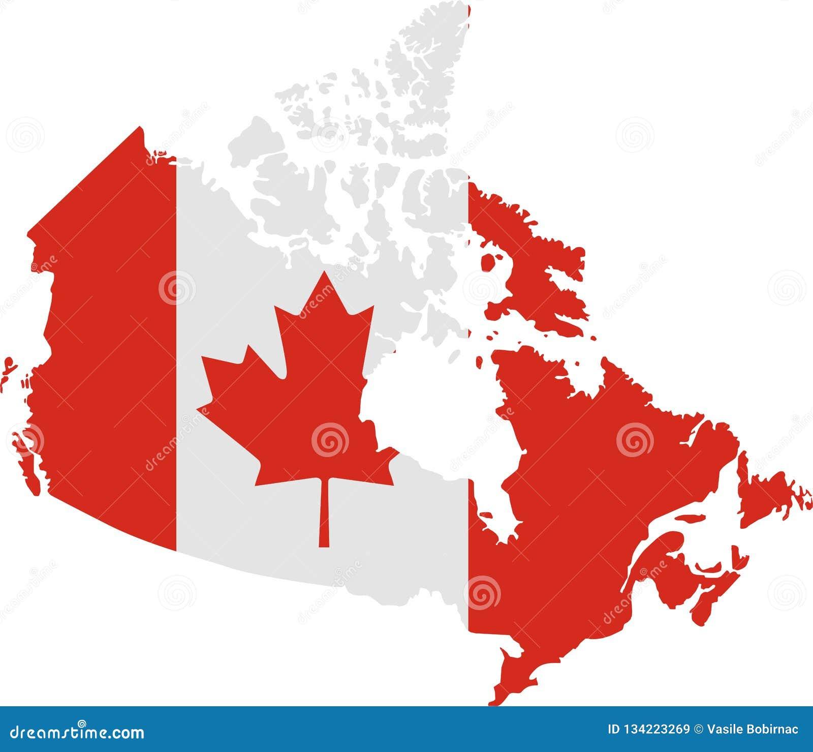 Canada flaga mapa