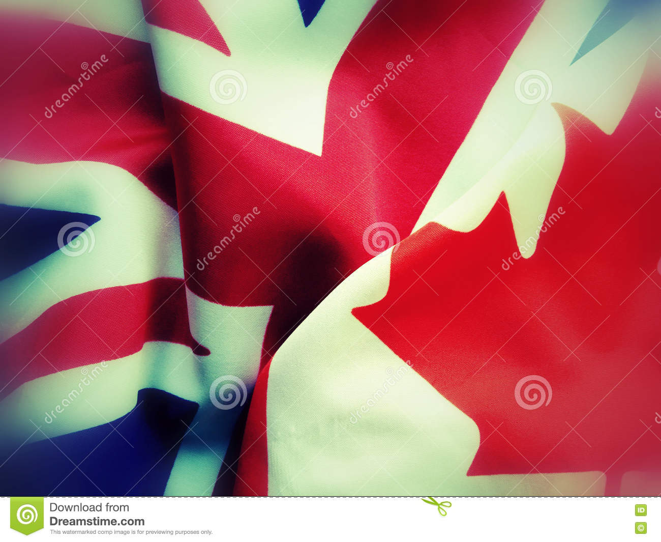 Canada and Great Britain flags