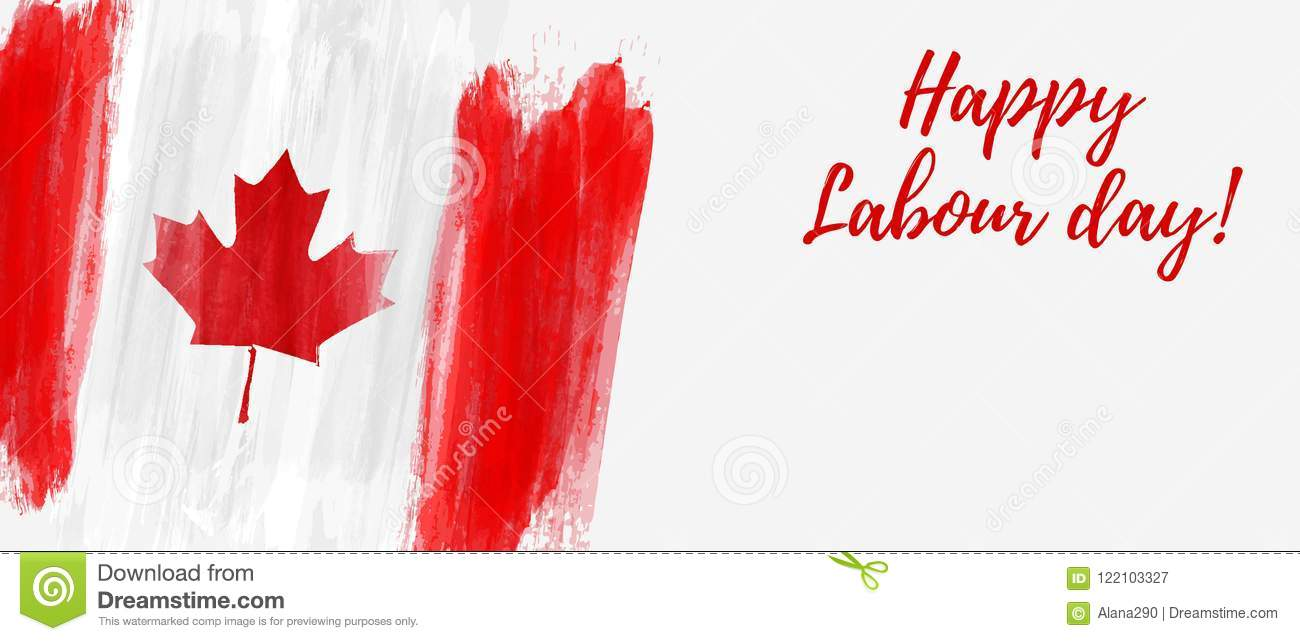 Canada Happy Labour Day Stock Vector Illustration Of Leaf 122103327
