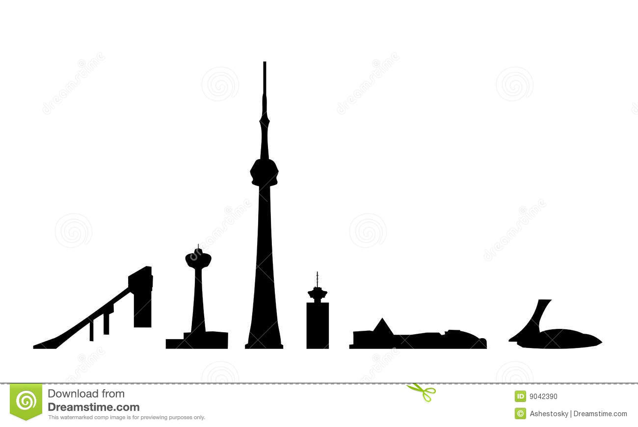 Canada Landmarks Isolated Vector Editorial Image Image