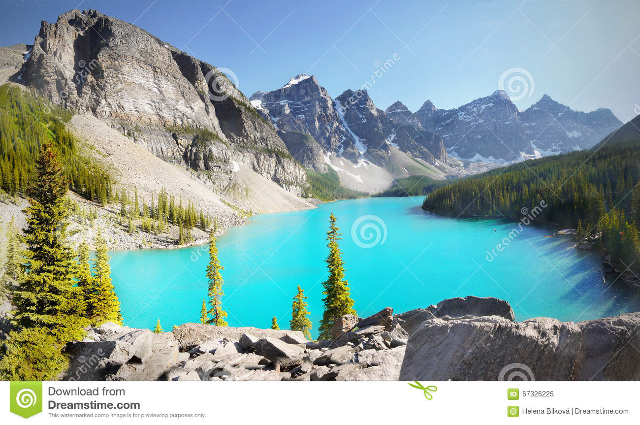 Canada Landscape Mountains Moraine Lake