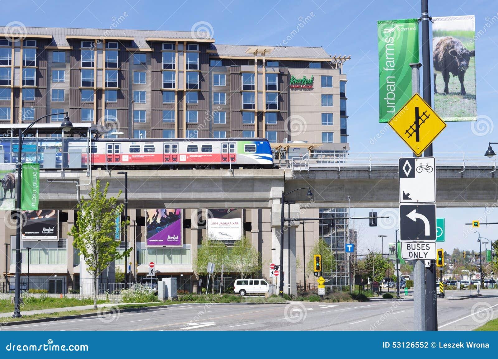 Canada Line Skytrain Bridgeport Station Editorial