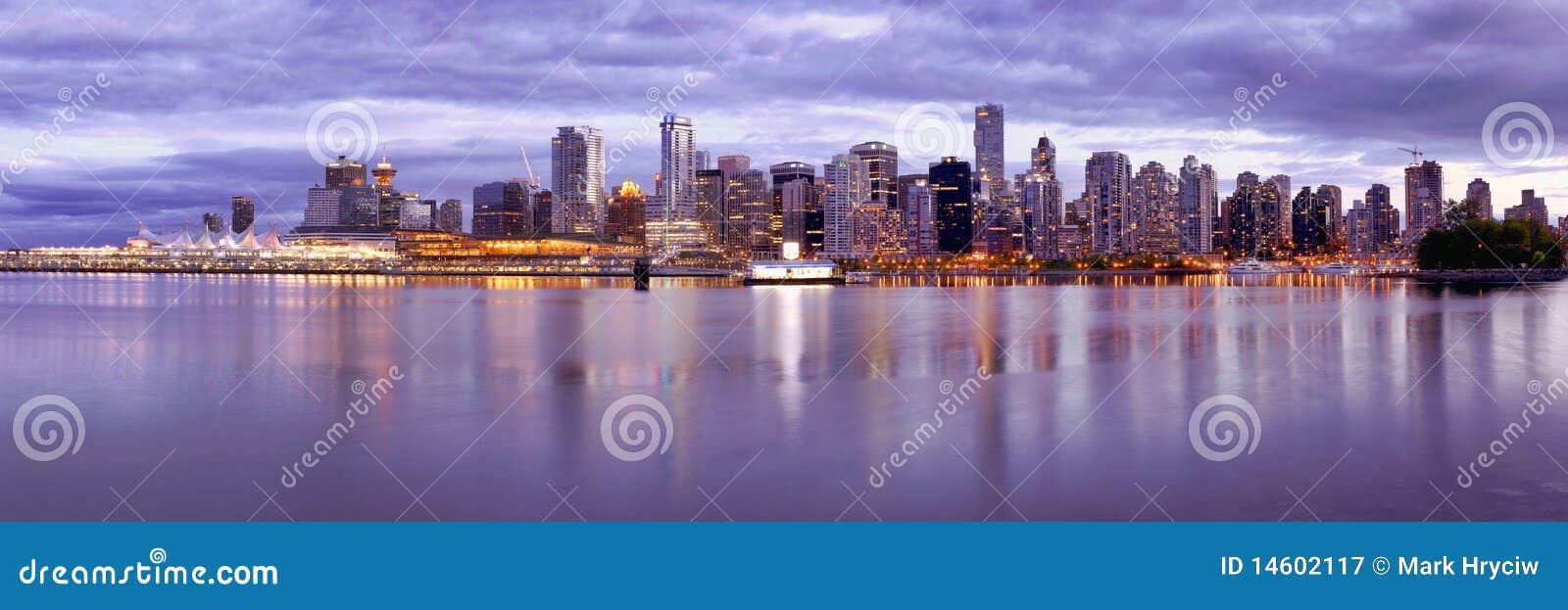 Canada linia horyzontu Vancouver