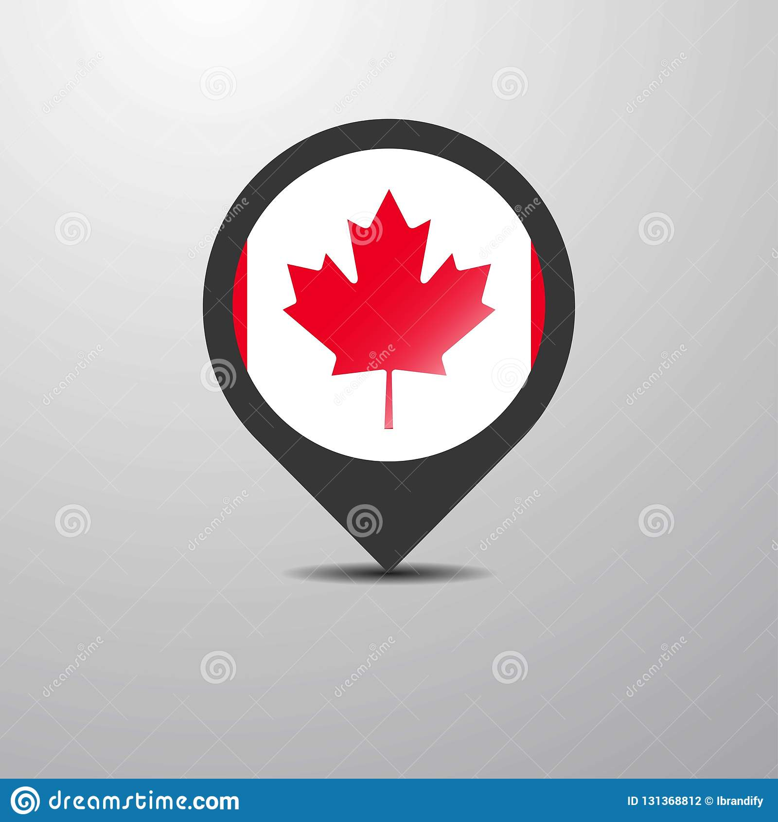 Map Of Canada Eps.Canada Map Pin Stock Vector Illustration Of States 131368812