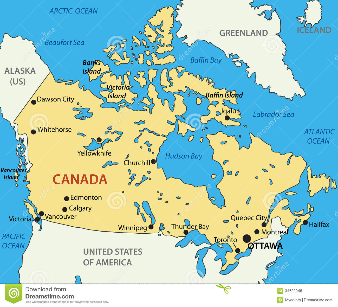 Map Of Canada Eps.Canada Vector Map Stock Vector Illustration Of Country 34680948