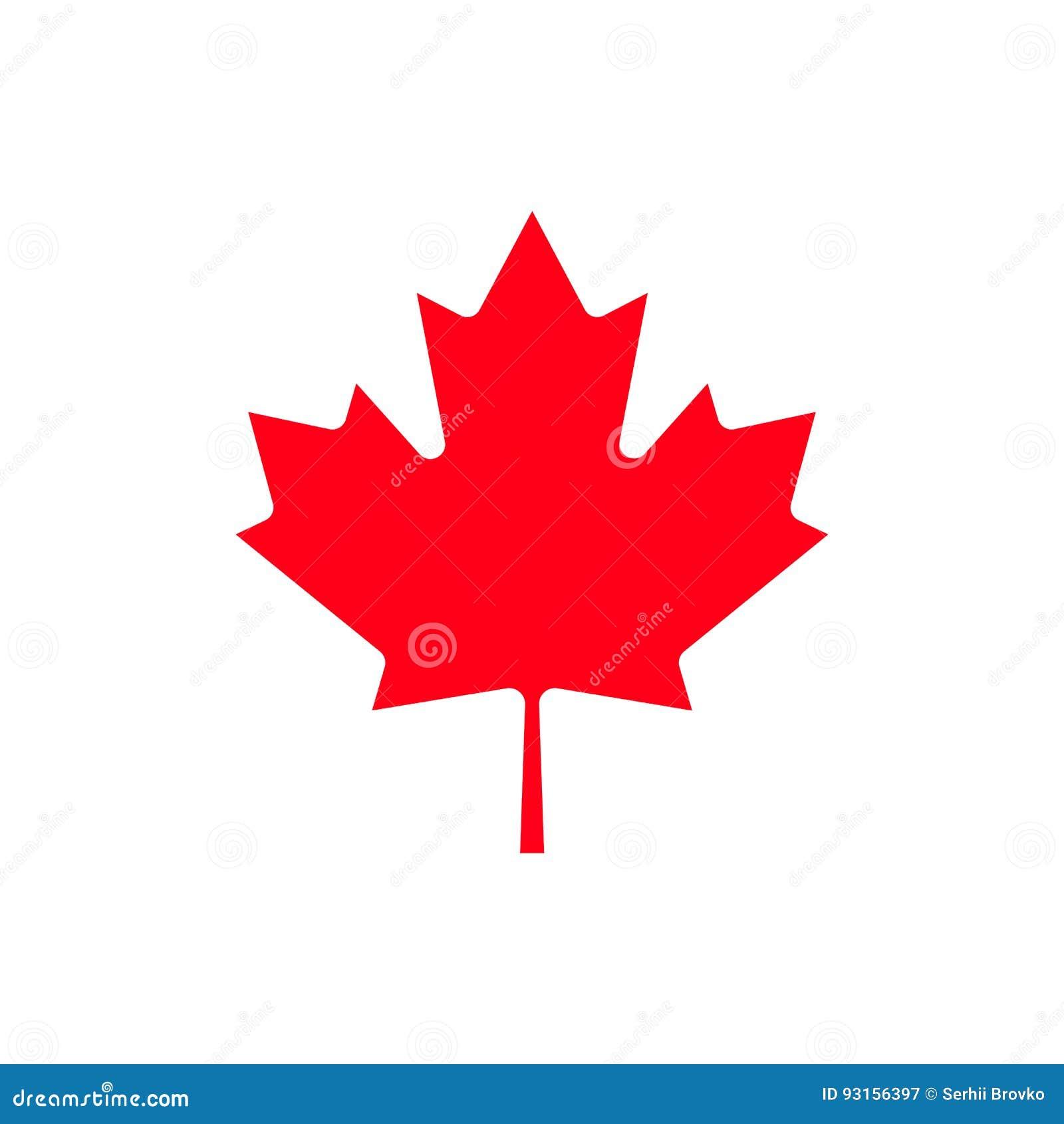 canada maple leaf icon stock vector image 93156397