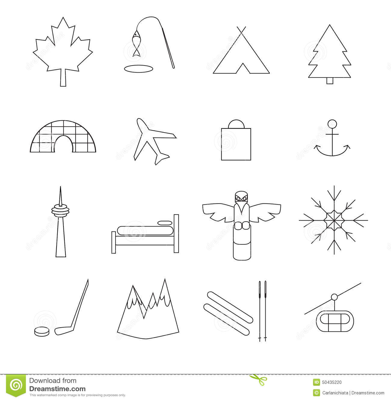 Stock Illustration Canada Pictograms Symbols Simple Line Drawings Image50435220 furthermore  on map of the united states america and canada