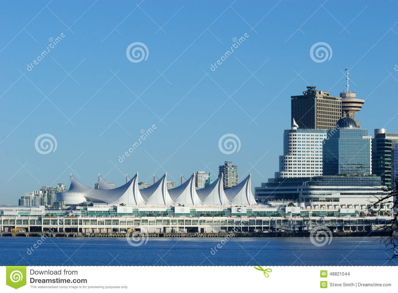 canada place cruise ship terminal  vancouver  bc stock photo
