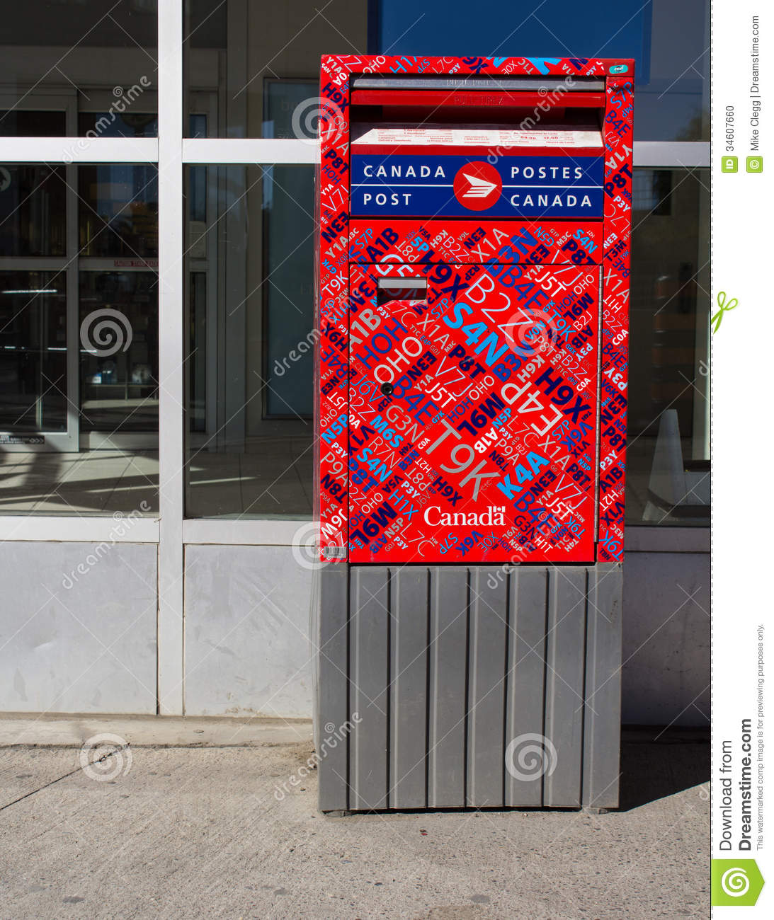 Canada Post Box Editorial Image Image 34607660