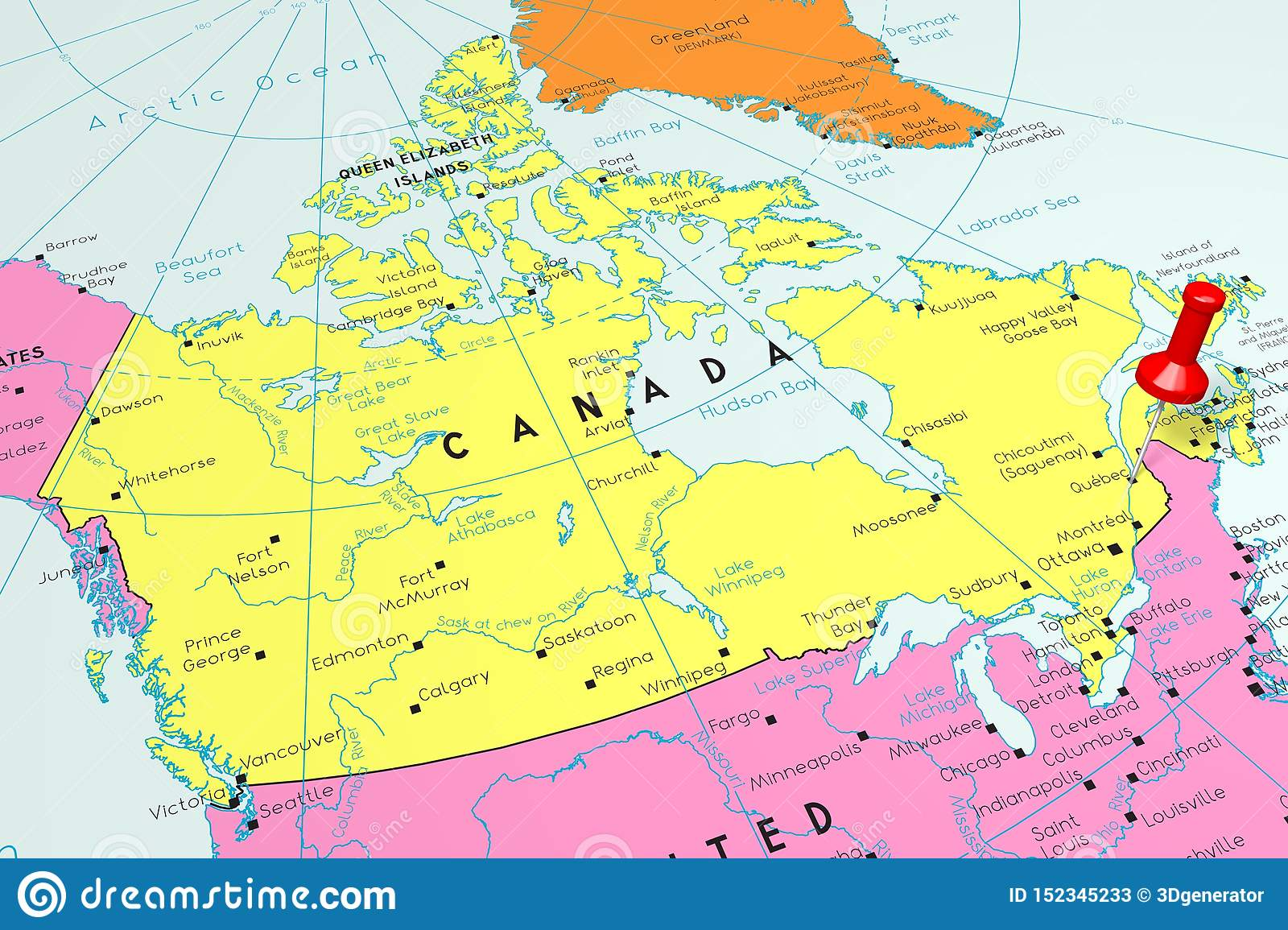 Canada, Quebec - Capital City, Pinned On Political Map Stock ... on canada town map, waterton lakes national park canada map, tadoussac canada map, quebec province zoom map, providence canada map, lorette canada map, beaufort sea canada location map, anchorage canada map, st john nb canada map, prince edward island map, iqaluit canada map, city of calgary canada map, albany canada map, tremblant canada map, regina canada map, lake nipissing canada map, cn tower canada map, edmonton canada map, montreal canada map, lake of the woods canada map,