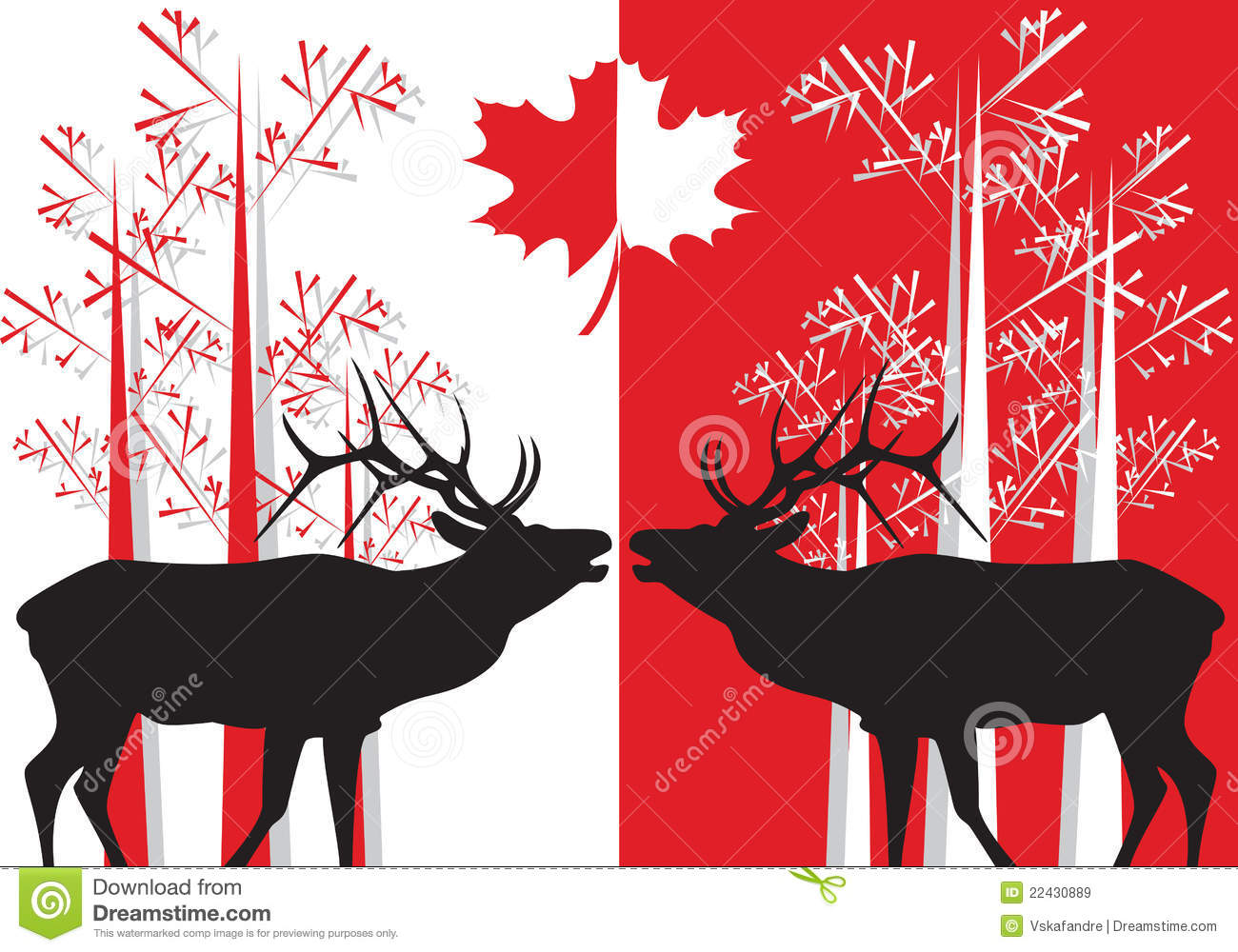 canada related symbols stock vector  illustration of