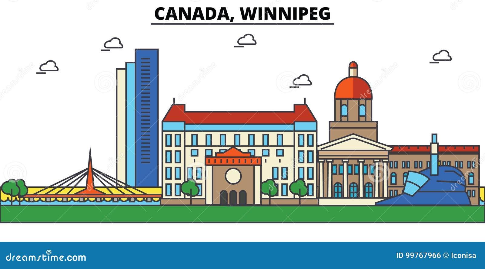 Canada, Winnipeg De architectuur van de stadshorizon