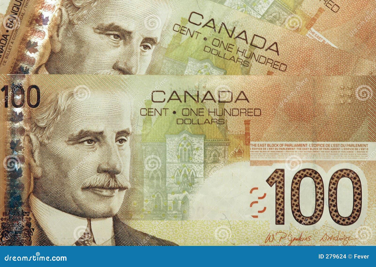 Canadese 100 dollarsrekeningen