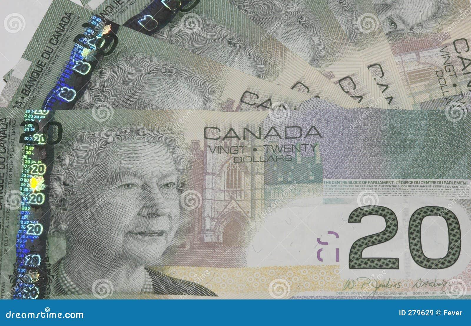 Canadese $20 rekeningen