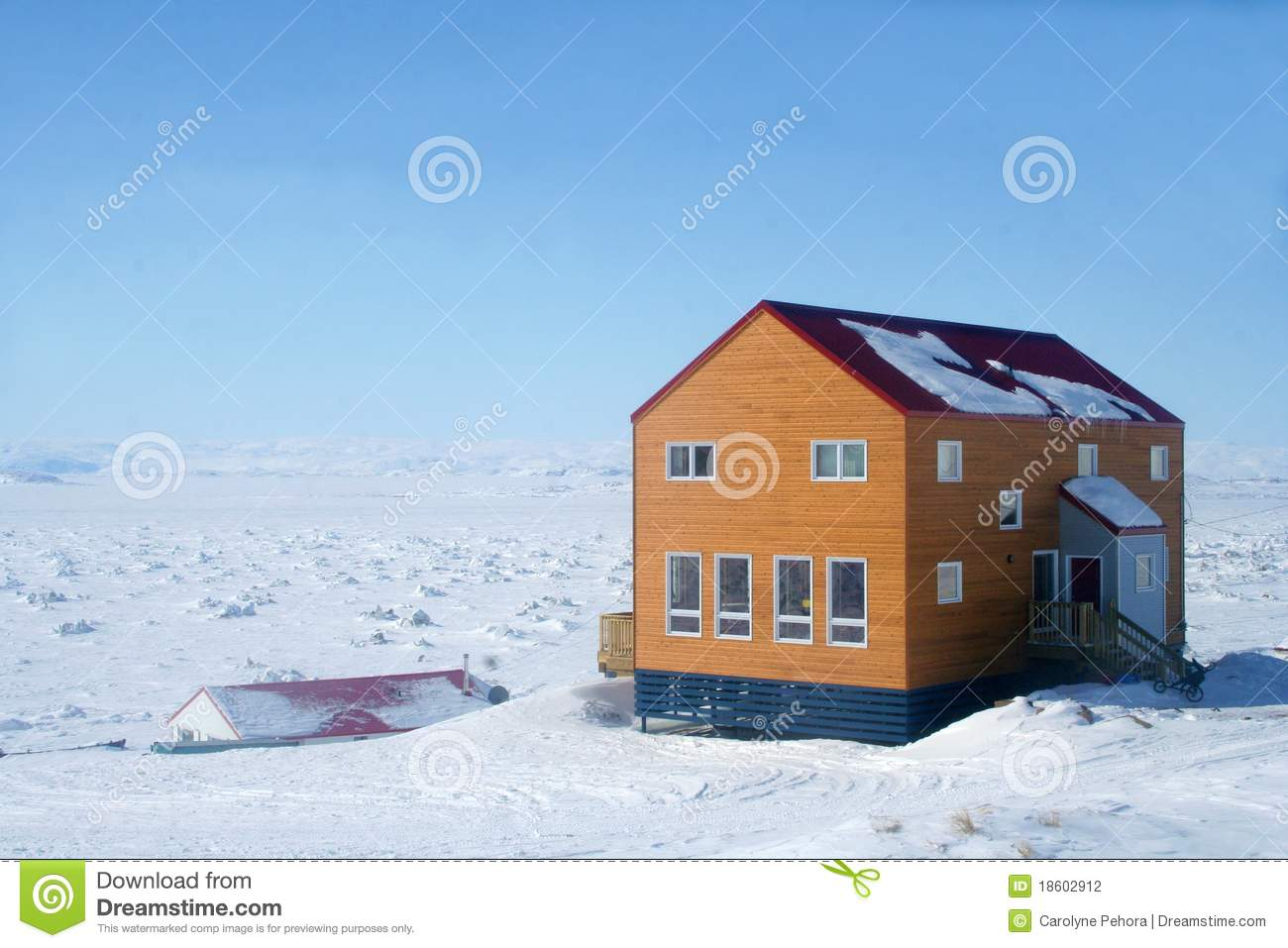 Canadian arctic house stock photo image of frobisher for Arctic house design