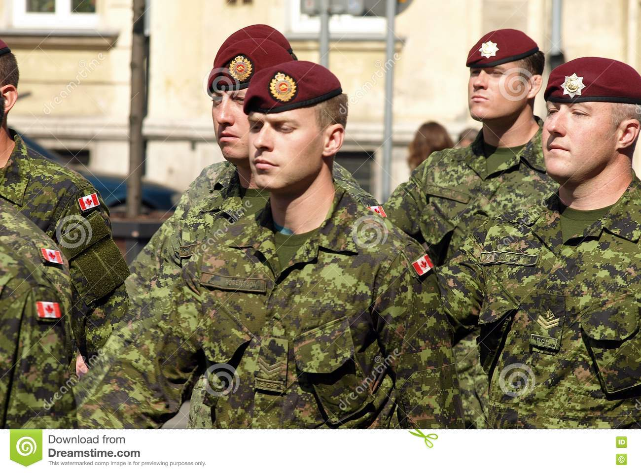 Canadian Army In Polish Armed Forces Day Editorial Photography