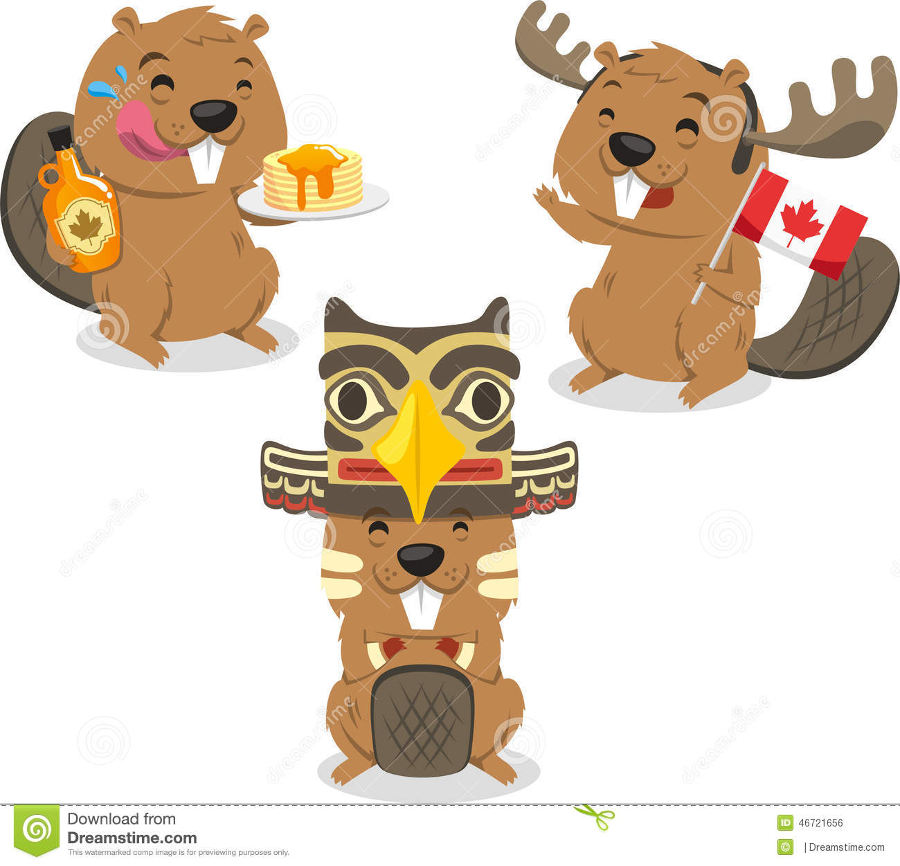 canada day beaver wearing t shirt stock photography image 5306482