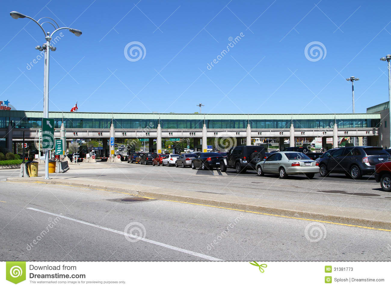 Canadian Border Crossing Editorial Stock Photo Image