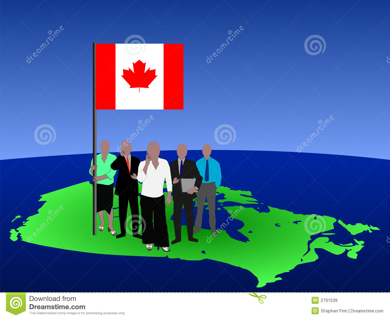Canadian business team