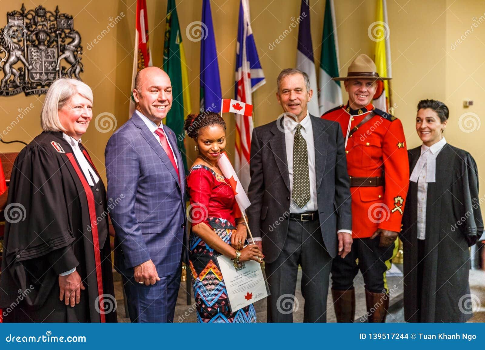 Canadian Citizenship Ceremony Editorial Stock Image - Image