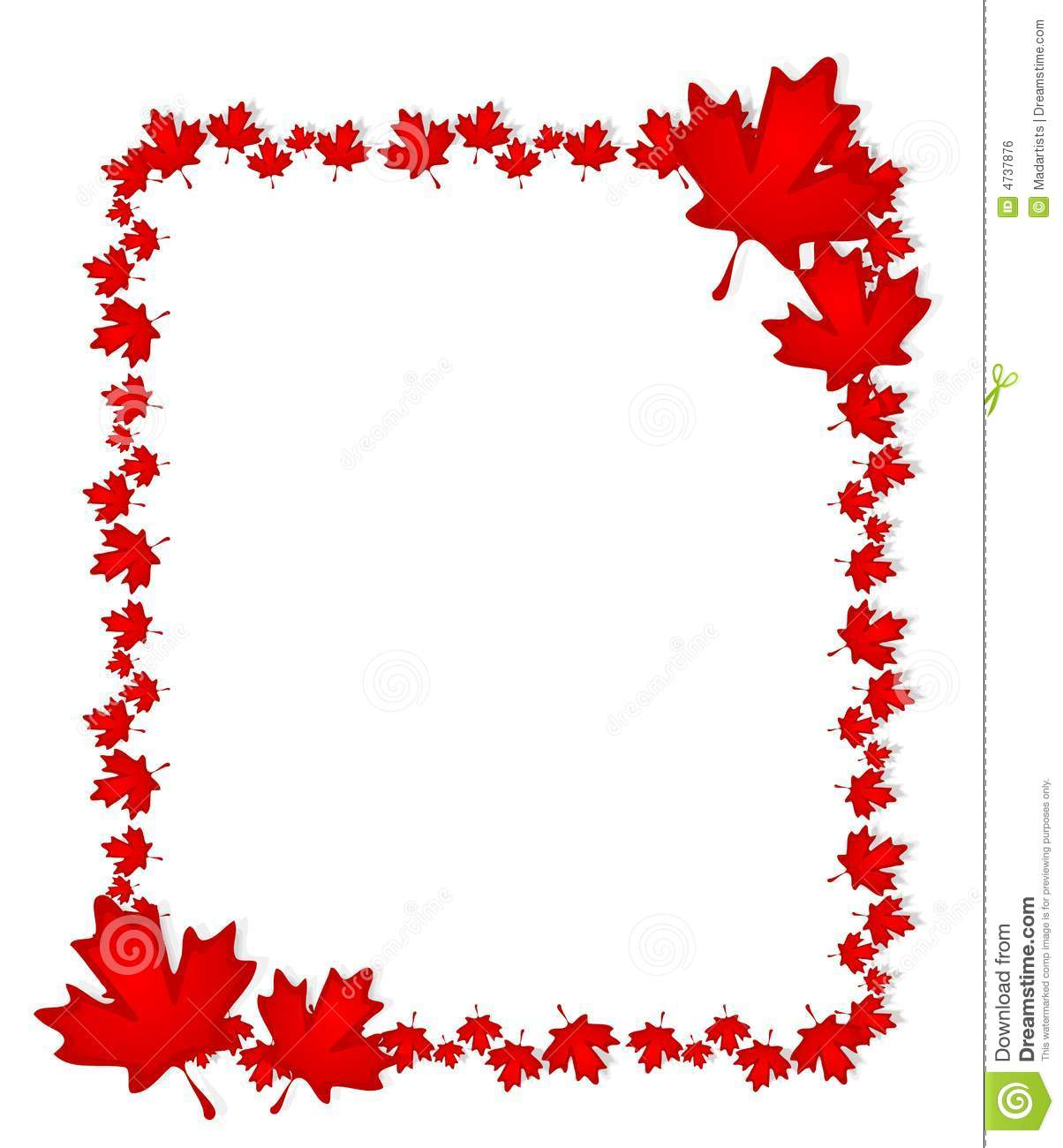 Leaf Border Clip Art Free Canadian day maple leaf border