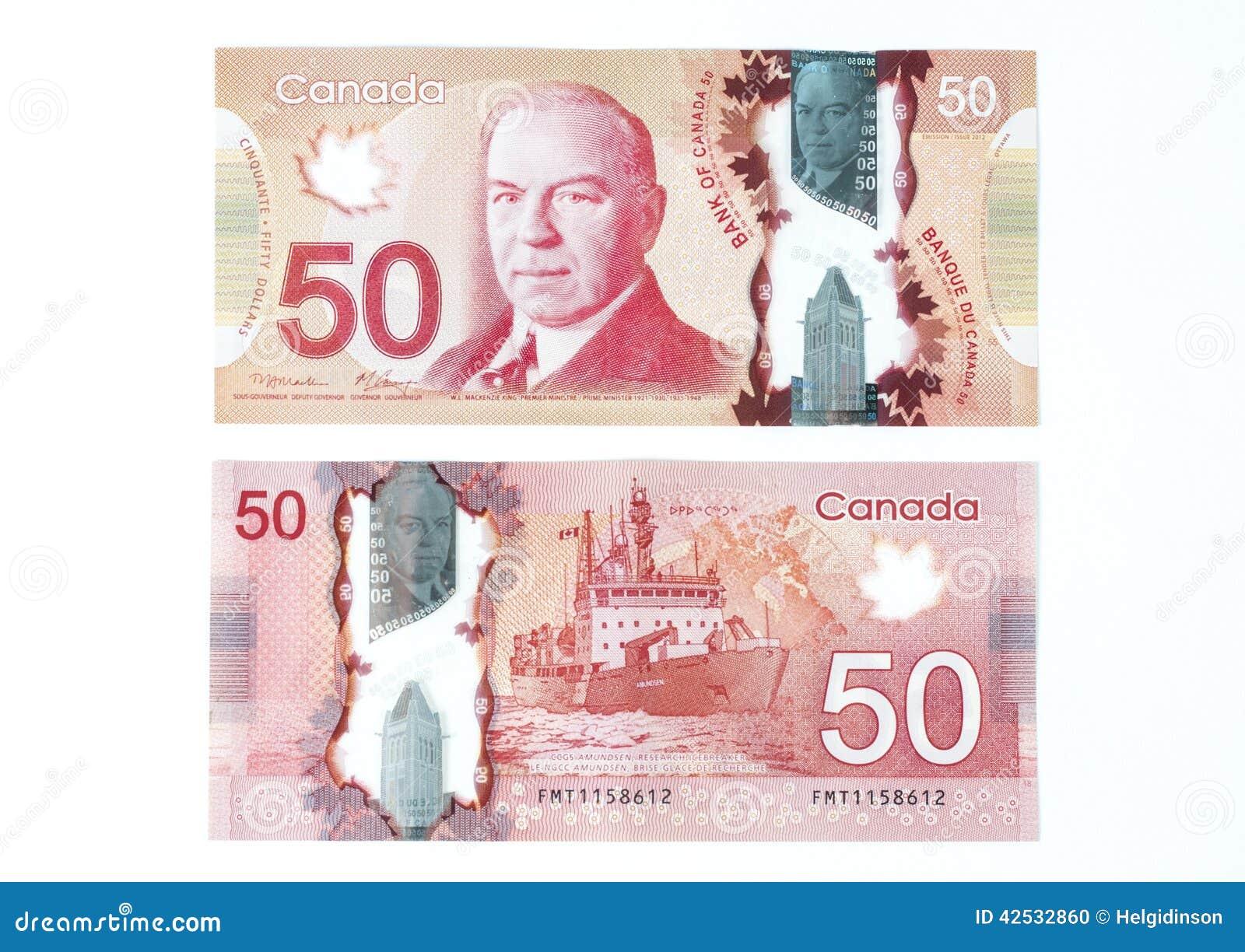 50 Canadian dollar bill
