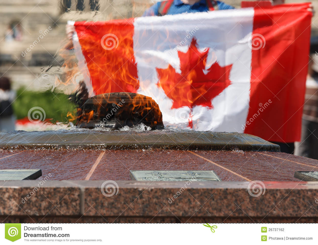 how to get a canadian flag from parliament