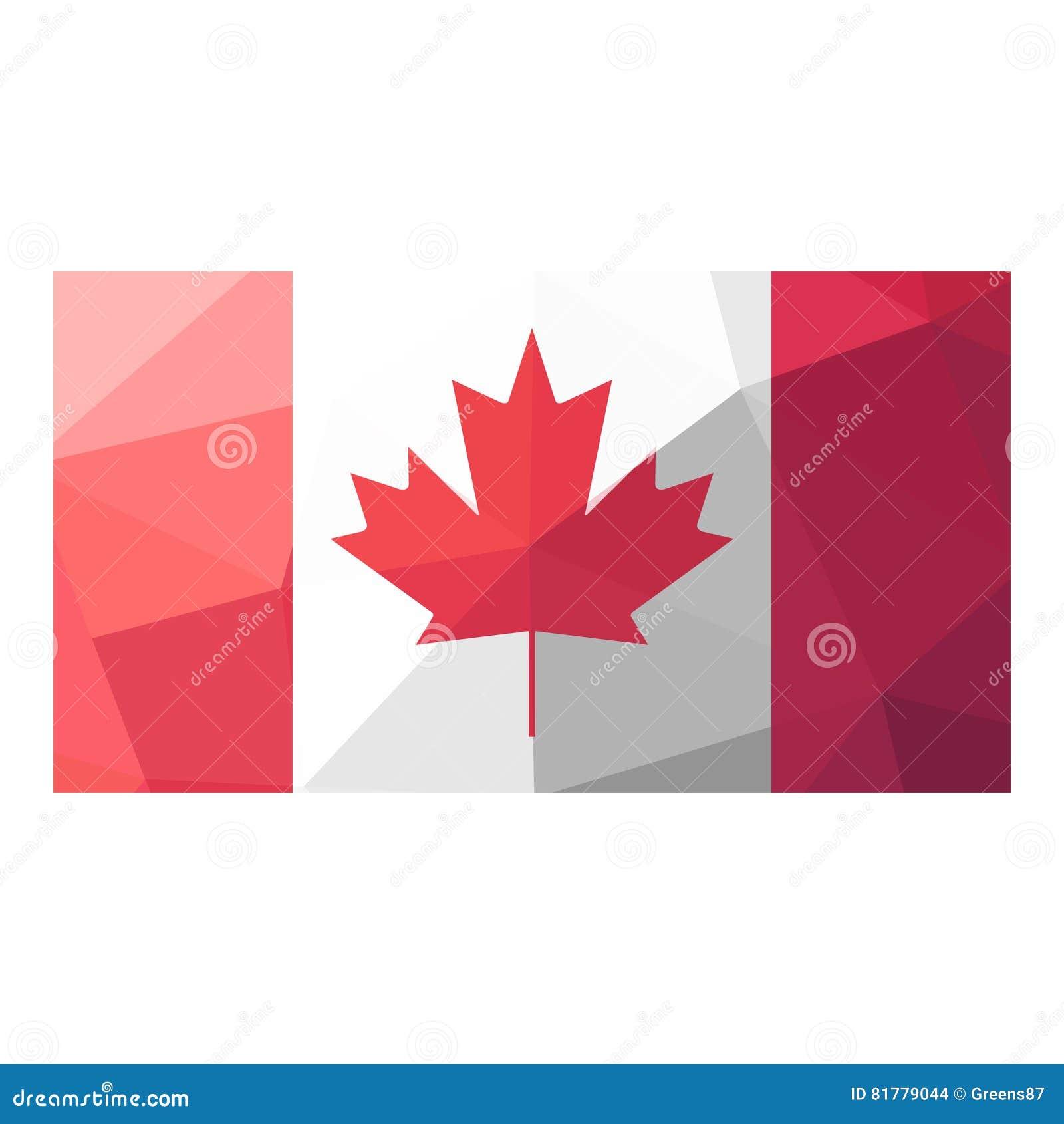 canadian flag geometric design stock vector illustration of label rh dreamstime com canada flag vector art canada flag vector file free