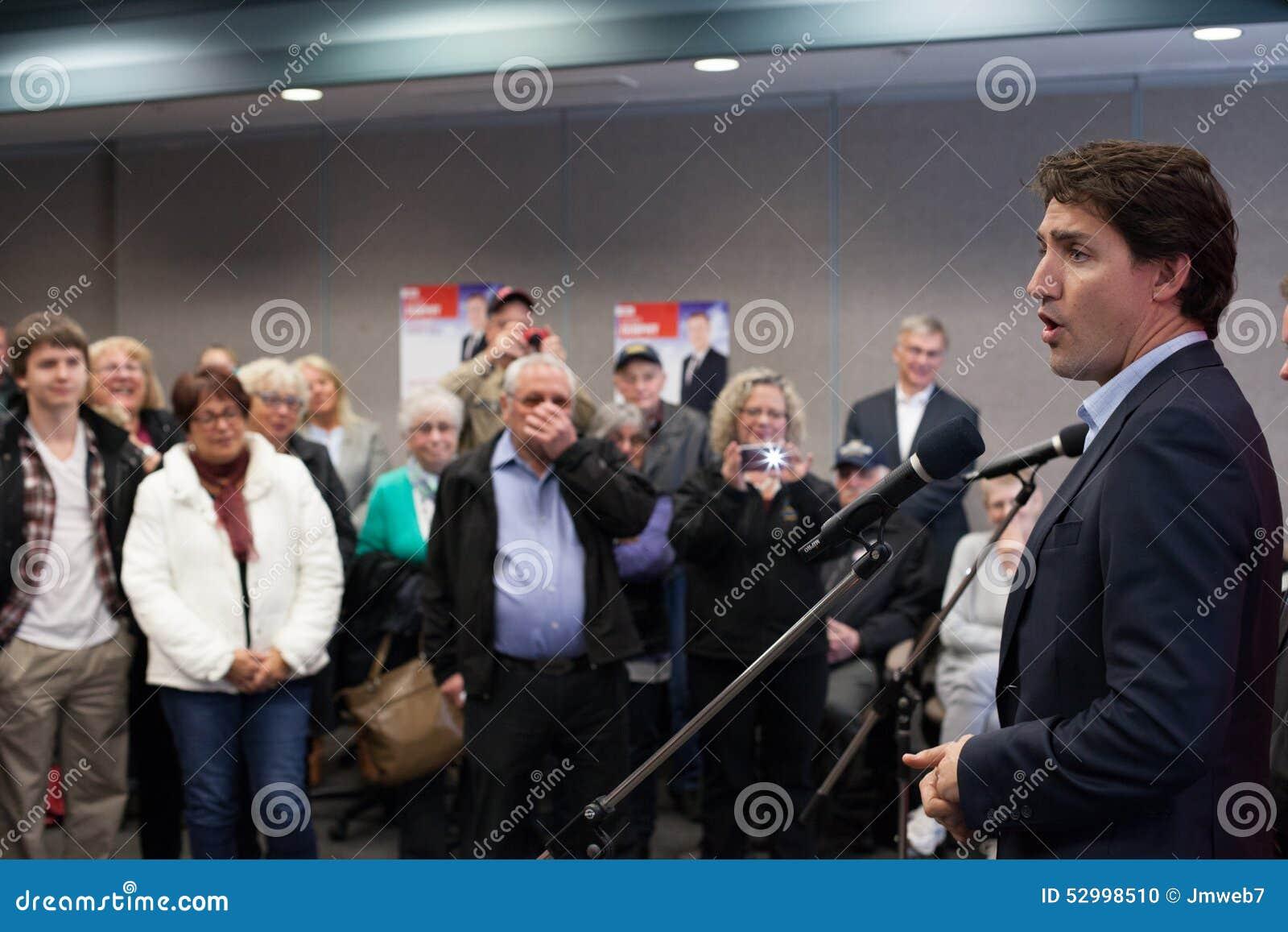 Canadian Liberal Leader Justin Trudeau