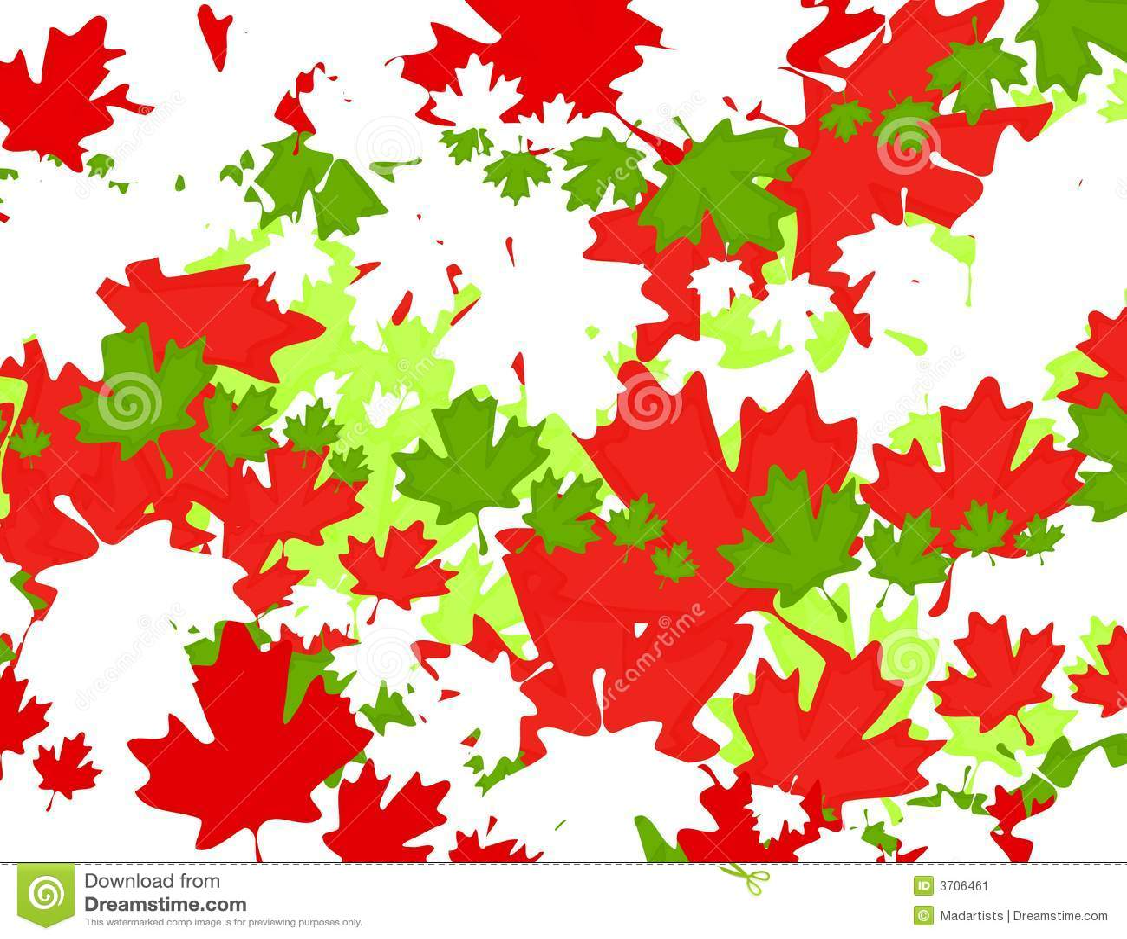 Canadian Maple Leaf Christmas Background Stock