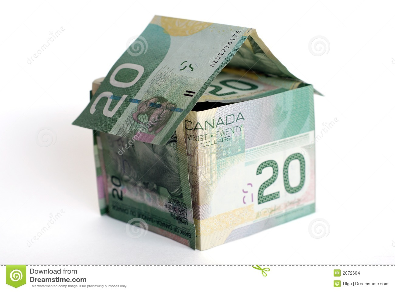 Canadian money house stock images image 2072604 for Free money to build a house