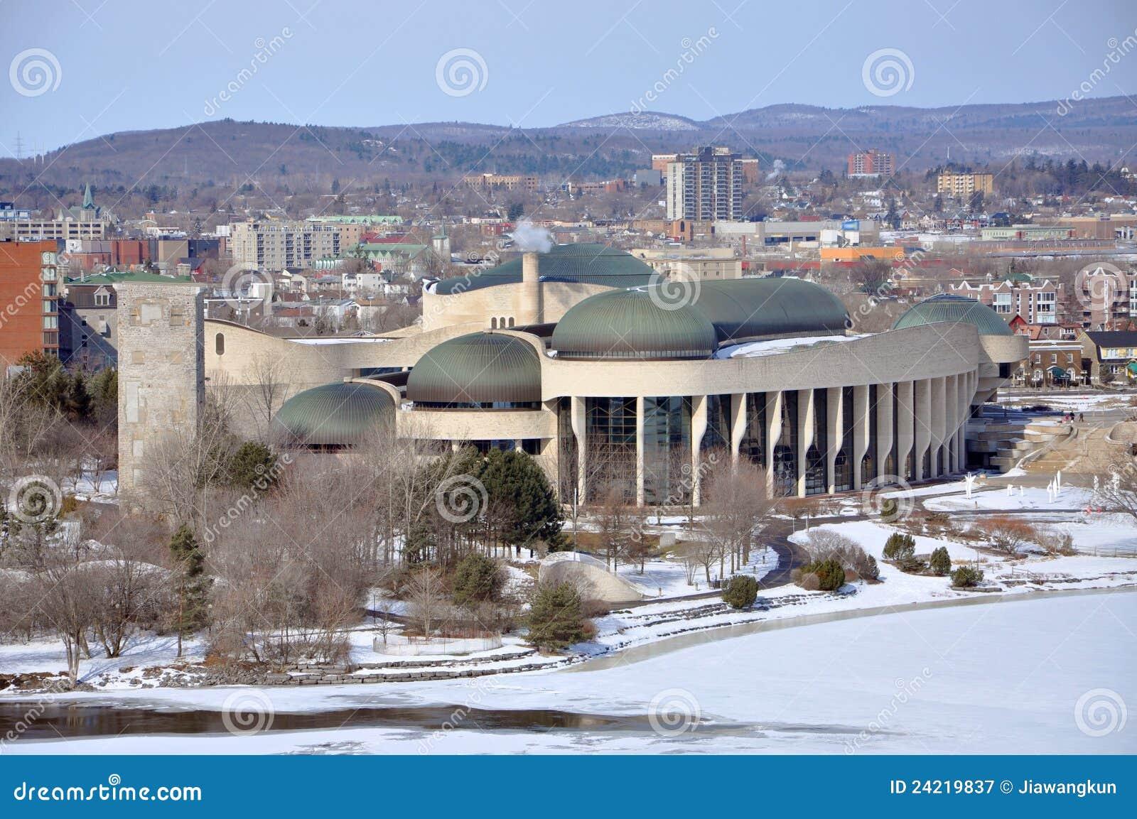 Canadian museum of civilization gatineau quebec stock for Quebec city museum of civilization