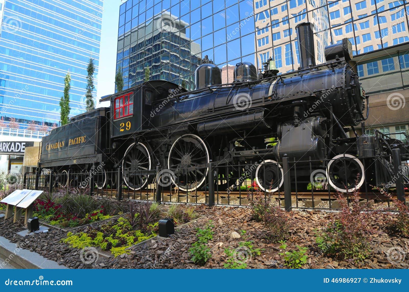 CALGARY, CANADA - JULY 29: Canadian Pacific Railway Locomotive 29 on ...