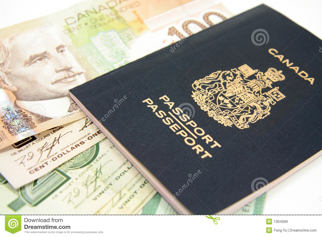 Canadian Passport Stock Image Image Of Money Canadian