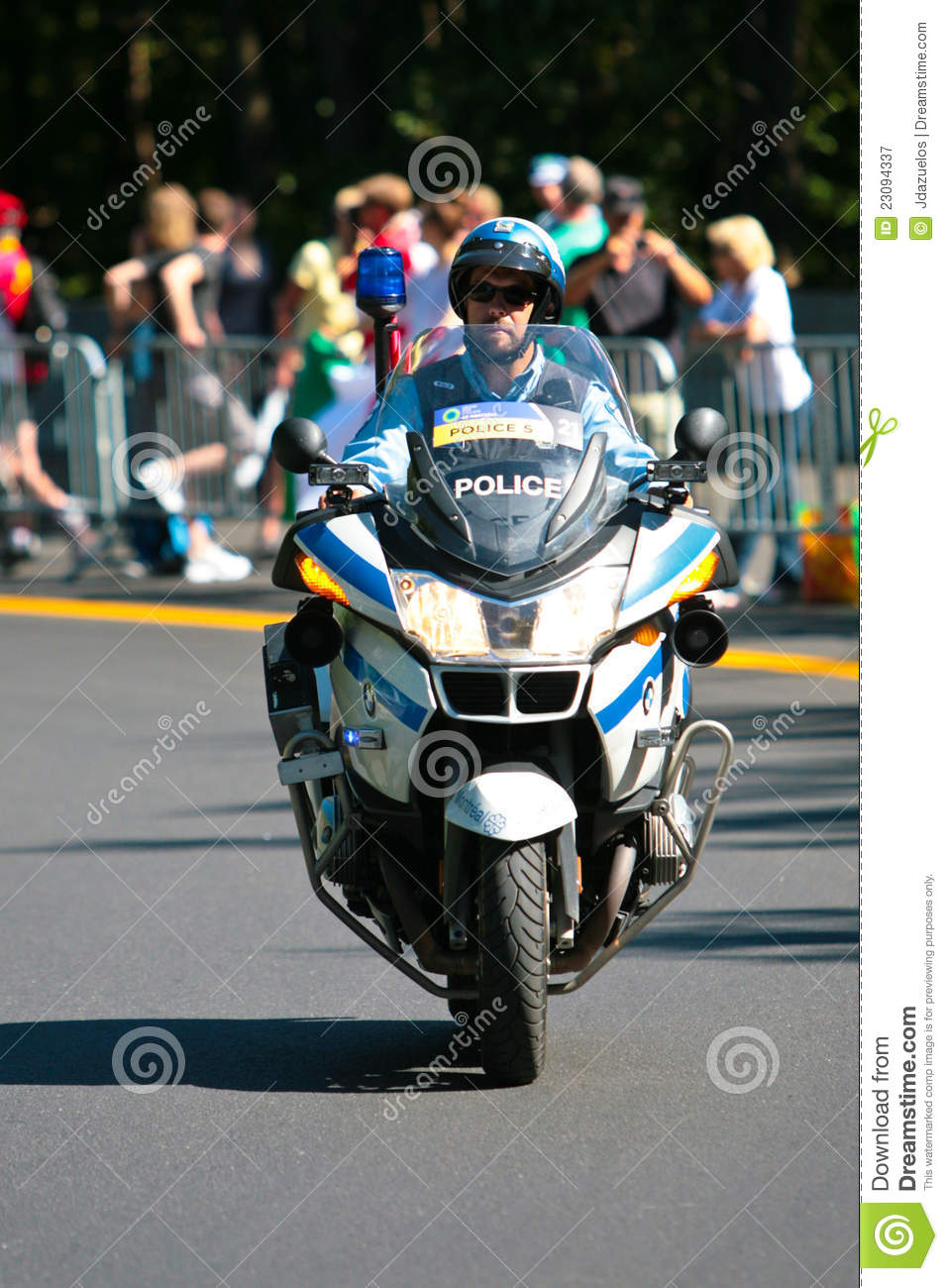 Canadian Police Officer On A Motor Bike Editorial Photography - Image: 23094337