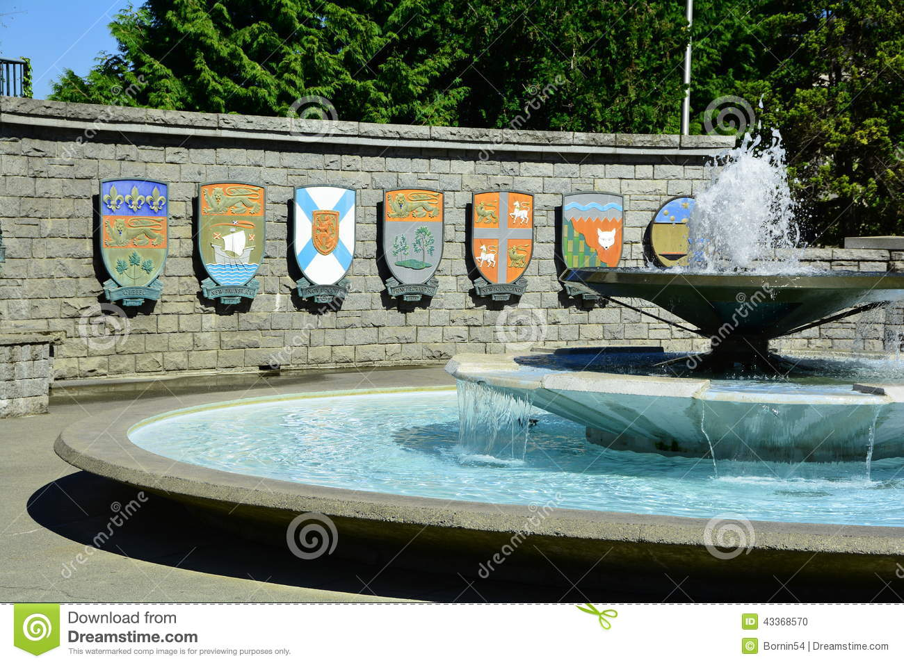Canadian Provincial Coat Of Arms  Stock Photo - Image of