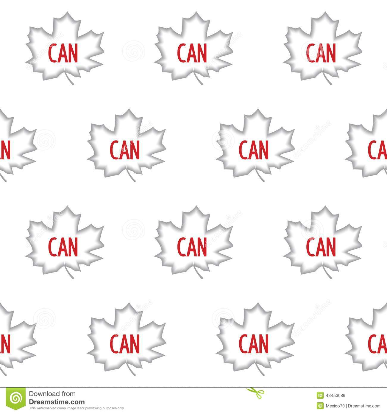 Canadian Seamless Pattern Stock Vector Illustration Of Abstract