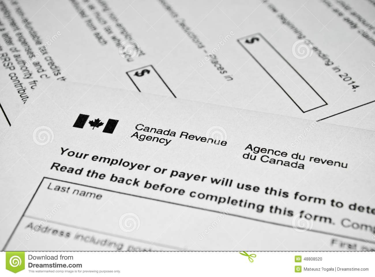Income tax on stock options canada