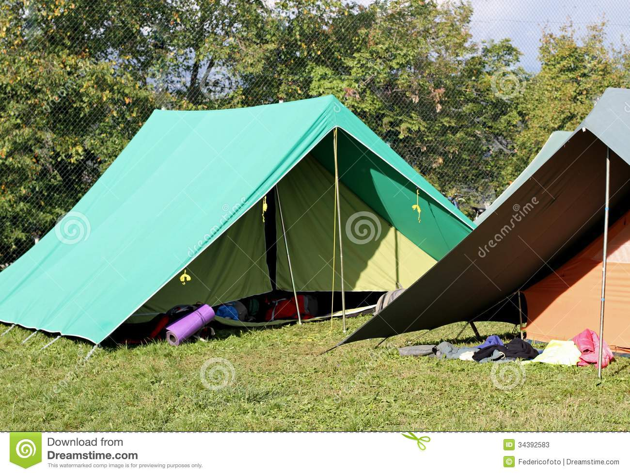 Canadian tents set up in a boy scout c& Stock Photos & Tents At Boy Scout Camp stock image. Image of parsons - 2904207
