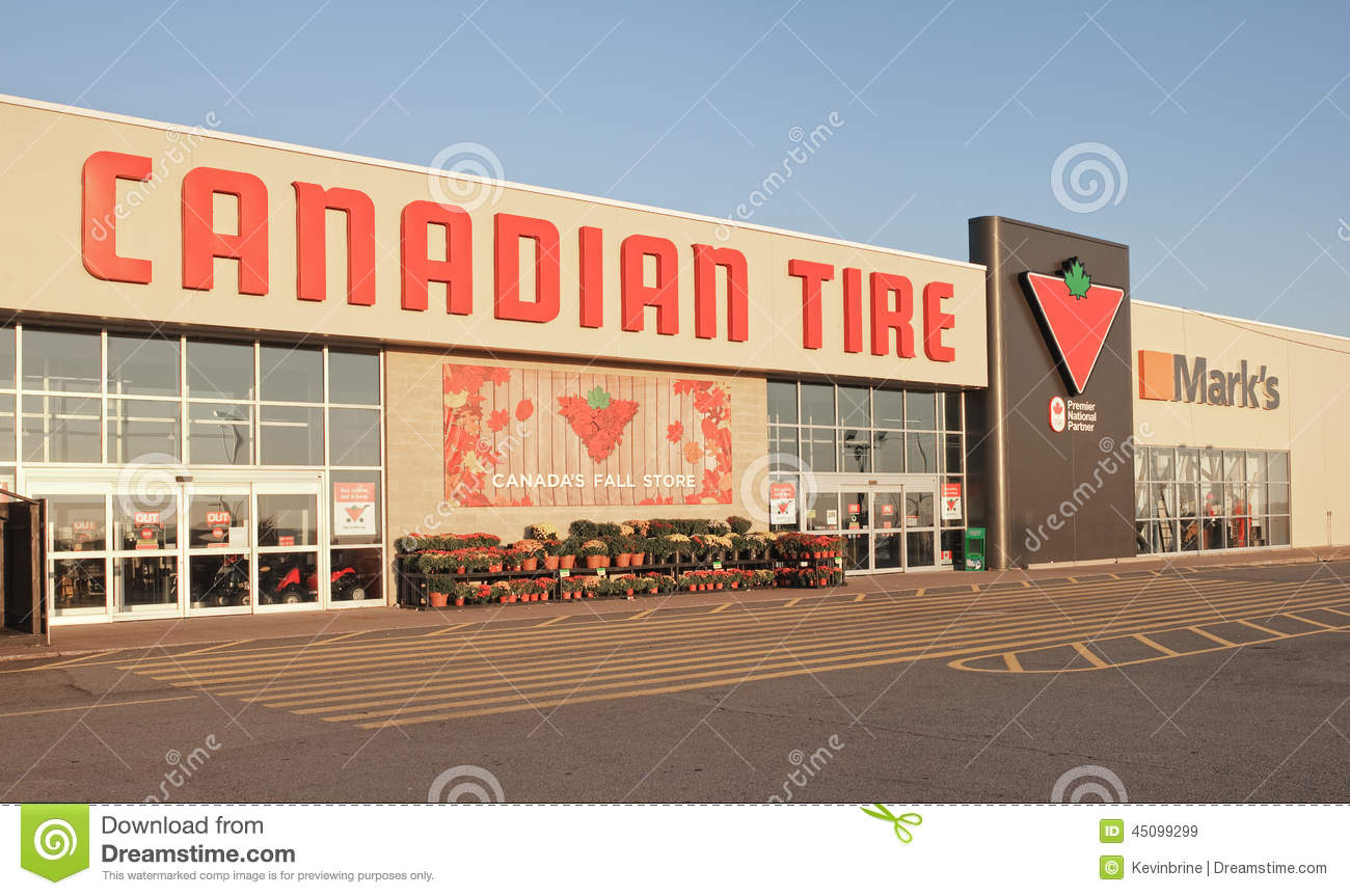 Canadian Tire Store editorial stock image  Image of business - 45099299