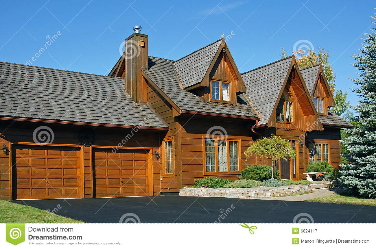Canadian wooden house stock image image of property Canadian houses