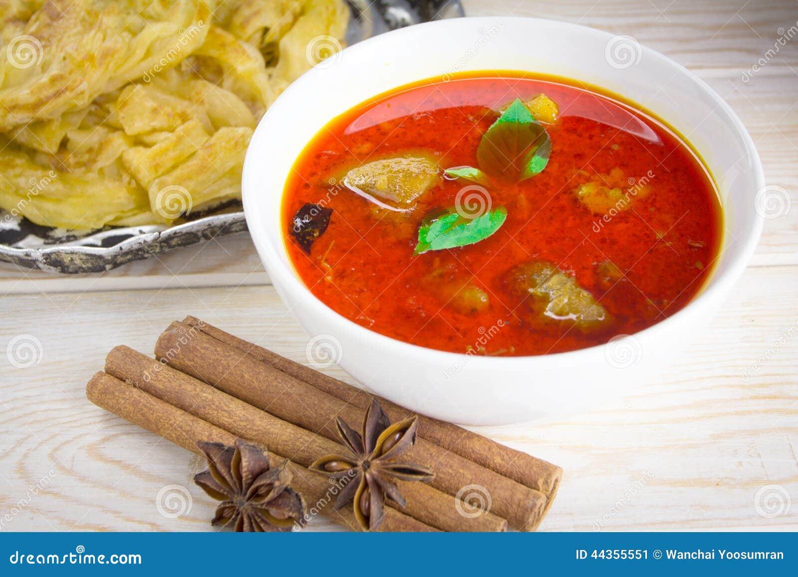 Canai di Roti e curry piccante