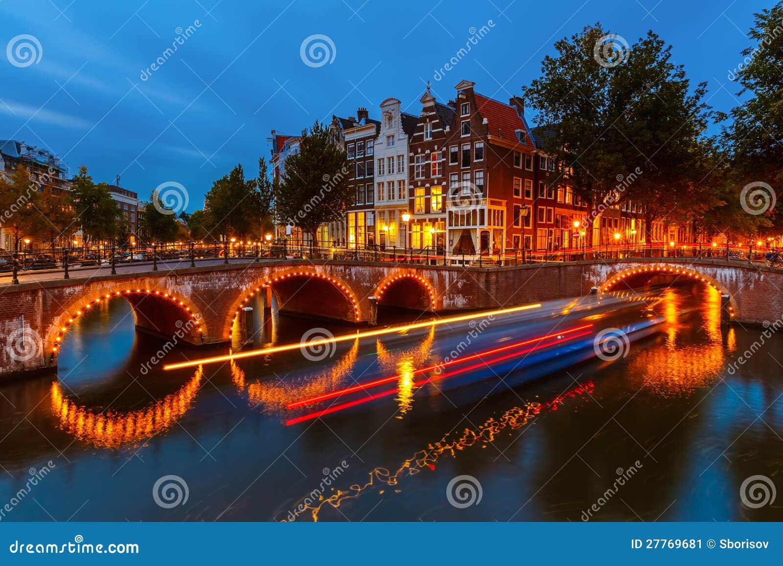 Canais em Amsterdão