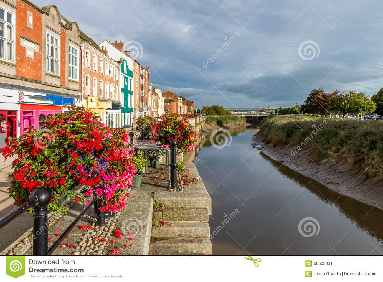 Canal central em Bridgwater