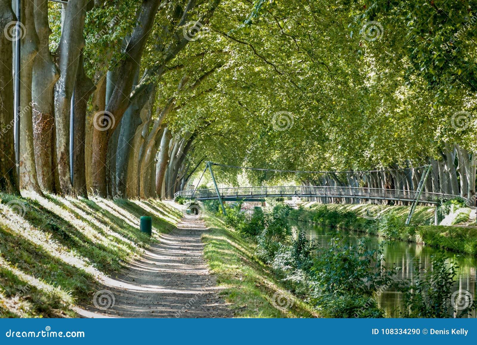 Canal DE Brienne in Toulouse, Frankrijk