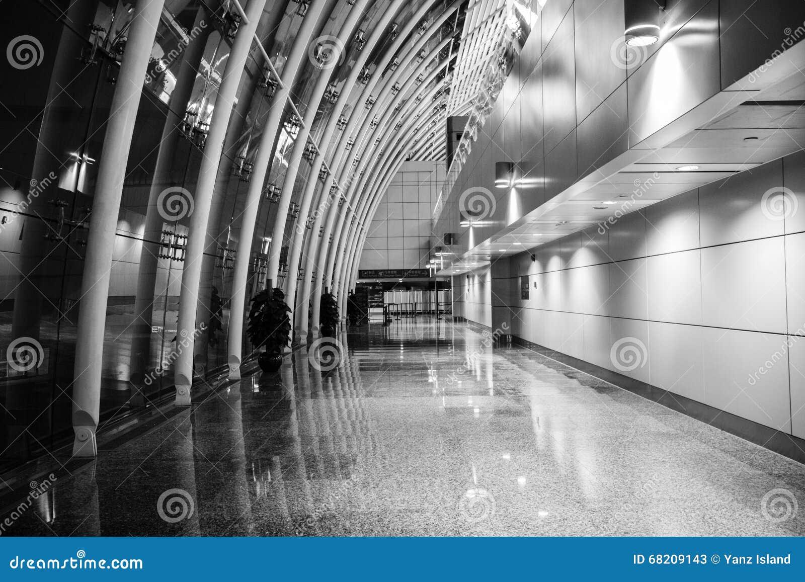 Canal De Terminal D\'aéroport De ŒThe De ¼ D\'ï De Couloir D\'aéroport ...